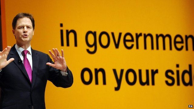 Nick Clegg at the Liberal Democrat spring conference