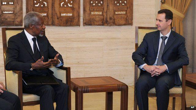 Kofi Annan and President Bashar al-Assad