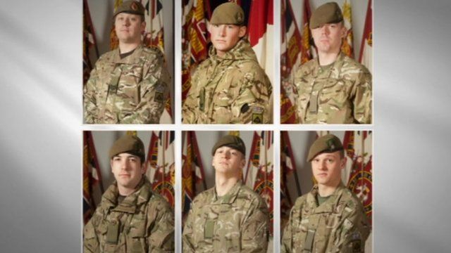 The six soldiers killed in a bomb attack in Afghanistan last week