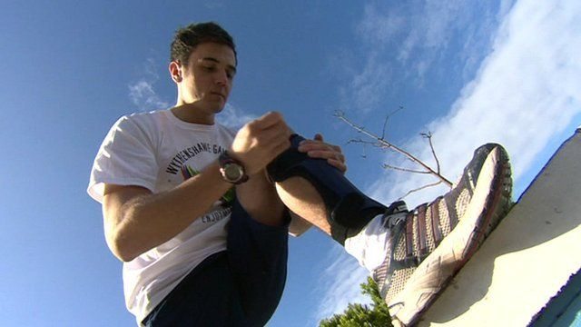 British Paralympic athlete Ian Jones