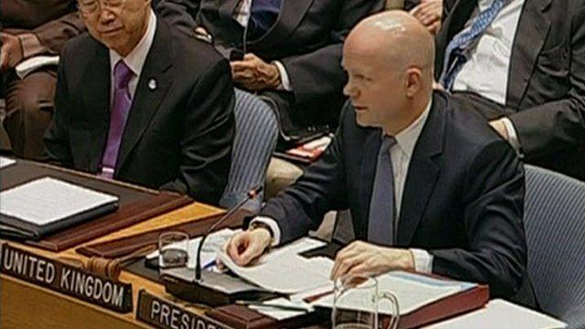 British Foreign Secretary William Hague at the UN