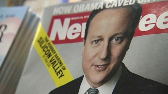 David Cameron on the front cover of the US Newsweek magazine