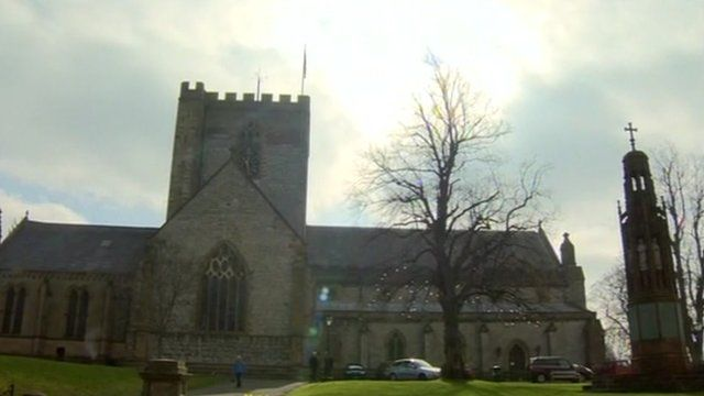 The cathedral in St Asaph
