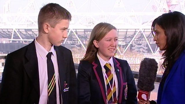 School Report at the Olympic Park