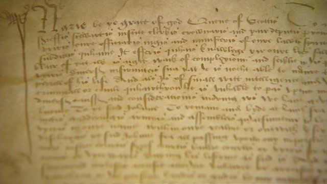 Letter from Mary, Queen of Scots