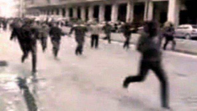 Fleeing fighting in Aleppo