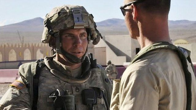 Staff Sgt Robert Bales pictured on a US military website