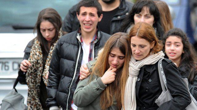 Aftermath of school shootings