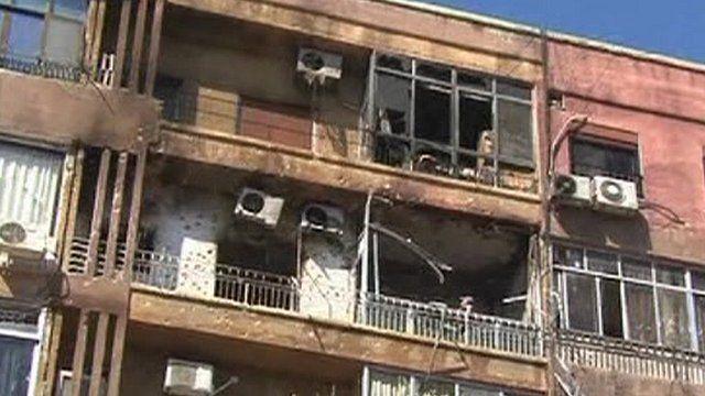 Aftermath of gun battle in Damascus