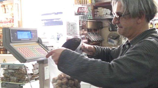 Man in shop