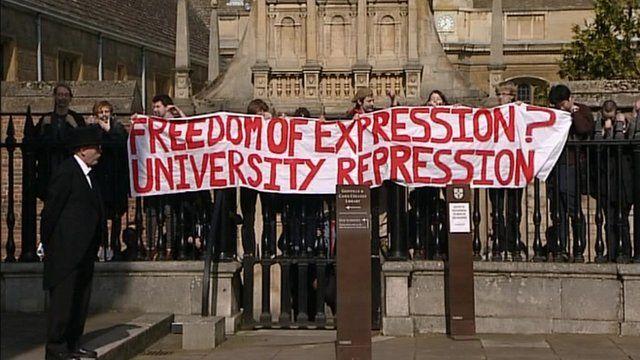 Cambridge University free speech protest
