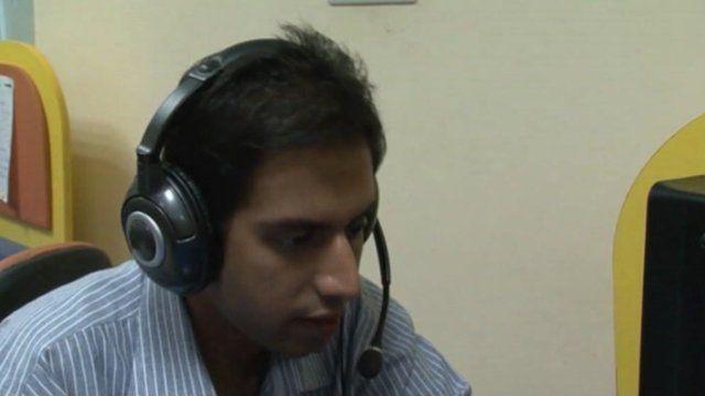 An Indian 'cyber teacher'