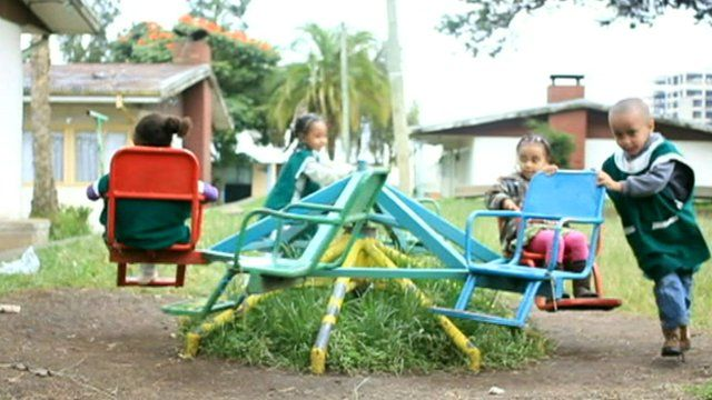 Children in Africa playing
