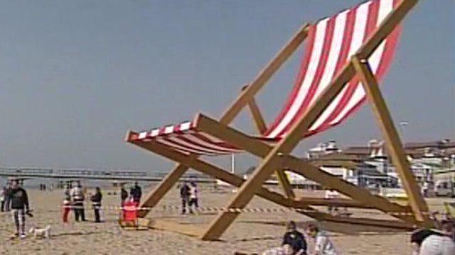 Giant deckchair