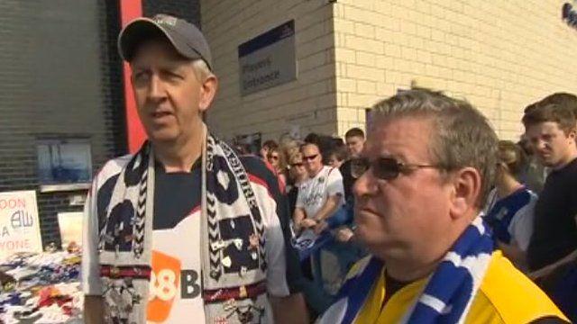 Bolton and Blackburn fans