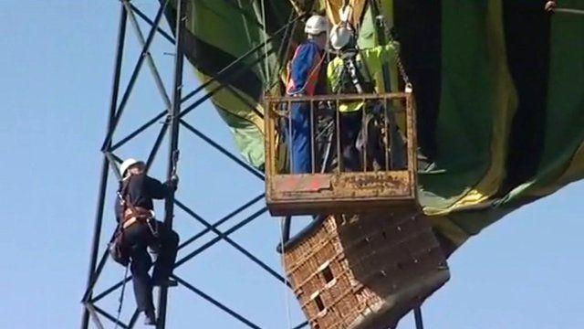 Freeing the hot air balloon