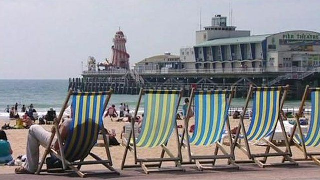Deckchairs on Blackpool beach