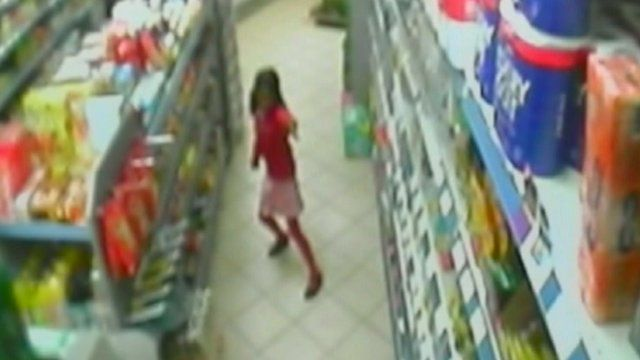 Thusha's family approved release of cctv video from inside the shop