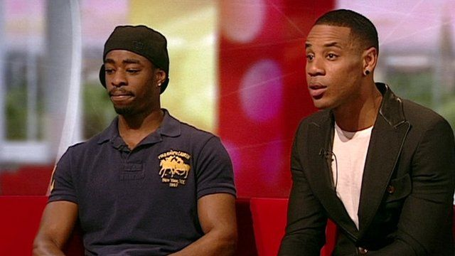 Aaron Rhoden and Radio One DJ Reggie Yates