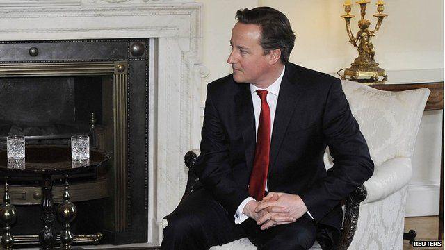 David Cameron in 10 Downing Street
