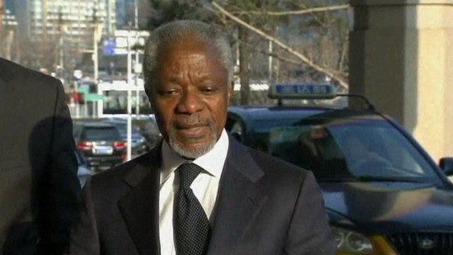 Kofi annan moter syriens president