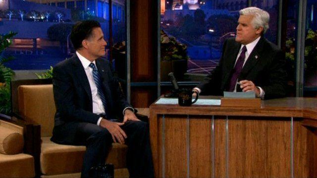 Mitt Romney and Jay Leno