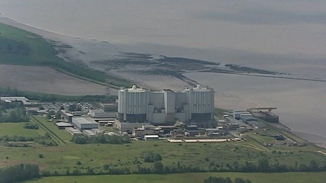 Aerial view of a nuclear power station