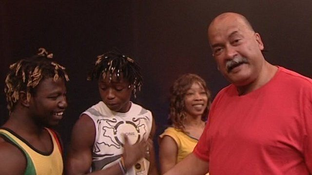John Pienaar with circus performers