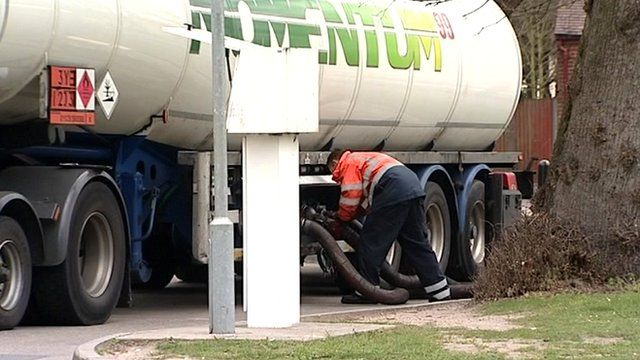 Fuel tanker driver refuelling