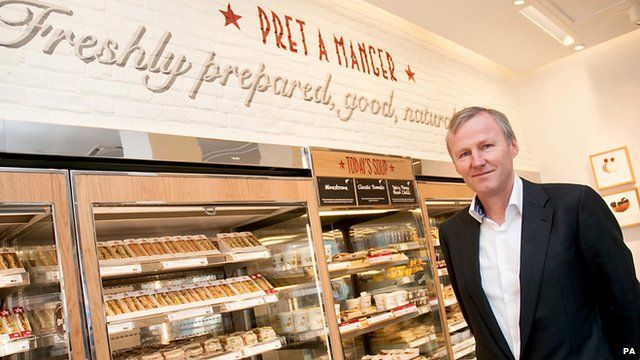 Clive Schlee in a Pret A Manger shop