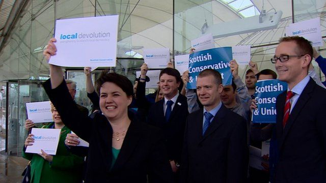 Scottish Conservative leader Ruth Davidson at the launch of the party's council election campaign