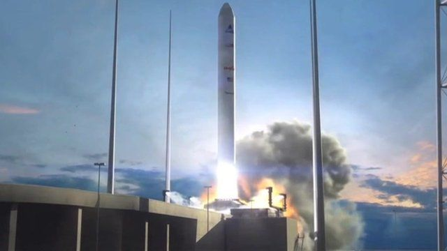 A drawing of an Orbital rocket
