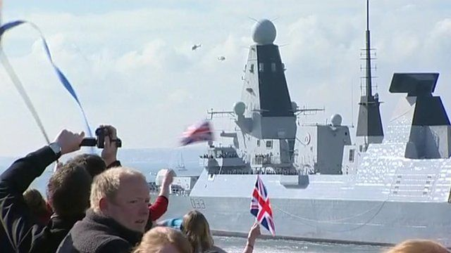 HMS Dauntless sets sail for the Falklands