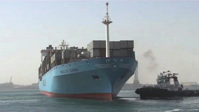 Tanker in waters off Dubai