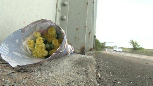 Flowers at roadside