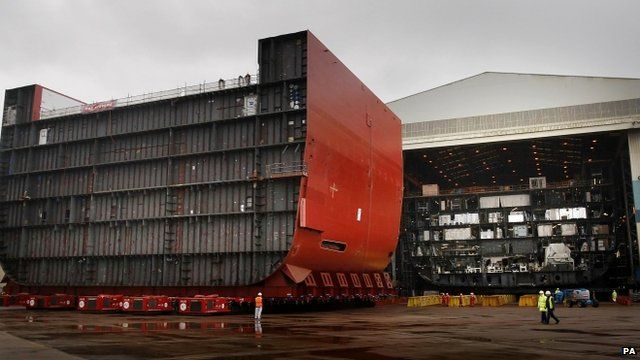 HMS Queen Elizabeth hull sections