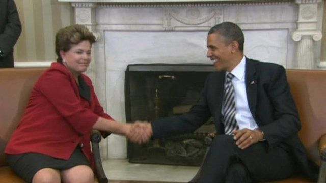 Brazil's President Dilma Rousseff met with President Barack Obama at the White House