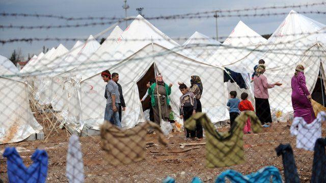 Reyhanli refugee Camp in Antakya
