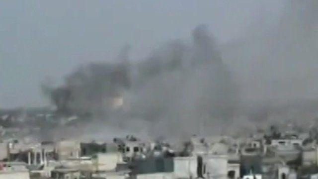 Smoke above Homs