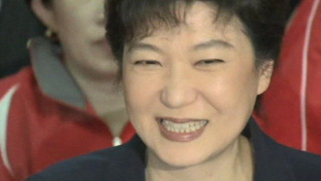 Ruling party leader and presumed presidential candidate Park Geun-hye.