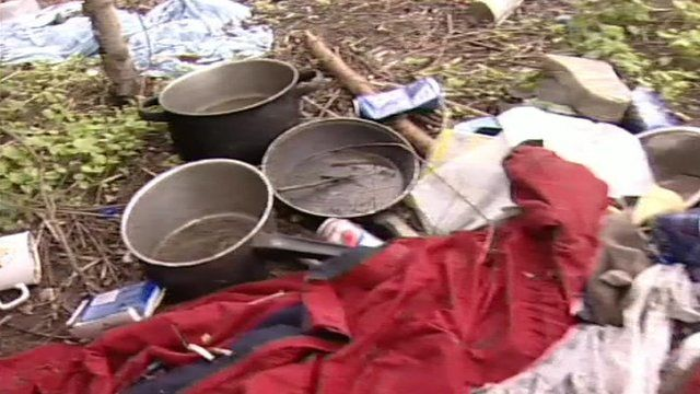 Camp for homeless in Northampton