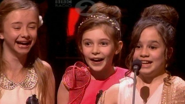 The four Matildas pick up their award