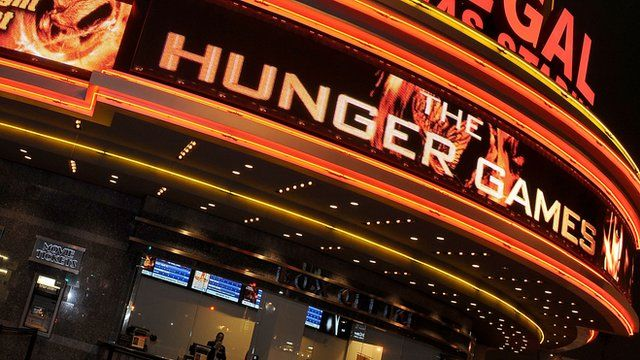 A cinema showing The Hunger Games
