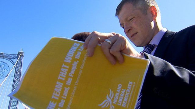 Willie Rennie launches the Scottish Liberal Democrats council election campaign