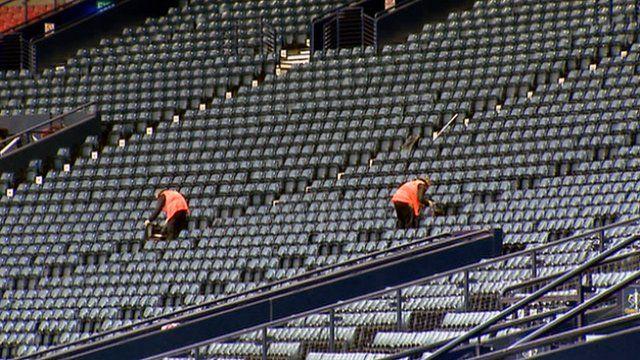 Empty seats in Hampden Park
