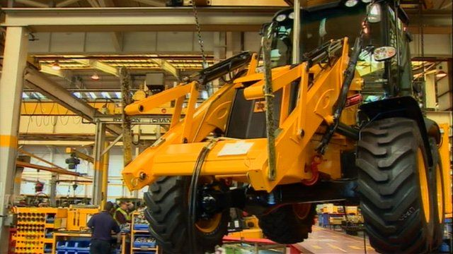 JCB being made