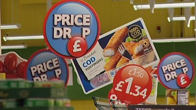 Price drop promotions in Tesco store