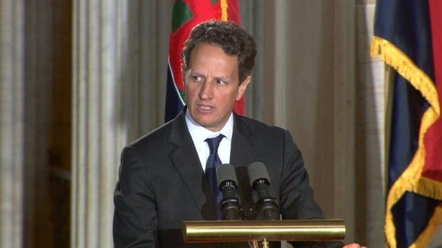 Geithner at Holocaust Remembrance Day in Washington, DC
