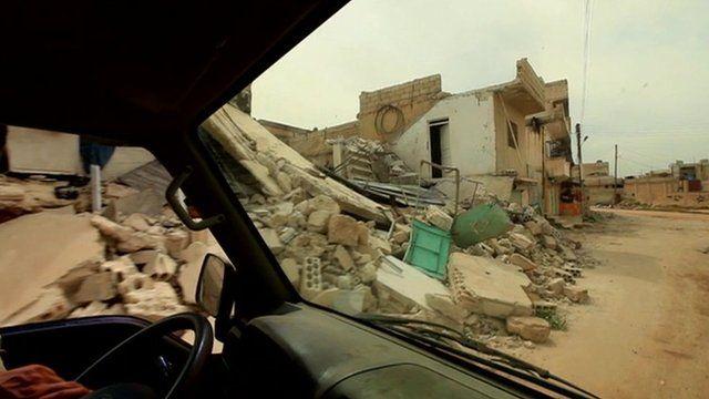 Destruction in Taftanaz