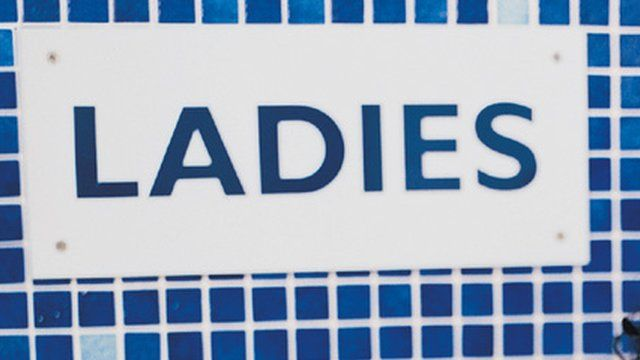 Ladies changing room sign